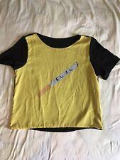 Fooly Cooly shirt large chiffon used Boxy Fit shirt anime weeb otaku yellow