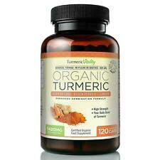 Organic Turmeric Curcumin 710mg High Strength With Black Pepper Ginger 120 Veg