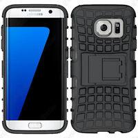 Coque Etui Anti Choc Armor Outdoor Bequille Noir Samsung Galaxy S7 edge G935F