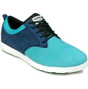 KIKKOR Selects Mens Leather Golf Shoes Sea Shelf Blue Size 13