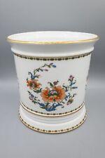 "Chamart Limoges France Hand Painted Blue Flower Pot Cachepot Vase 3-5//8/"""