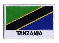 Ecusson patche patch drapeau pays monde TANZANIE 70 x 45 mm à coudre
