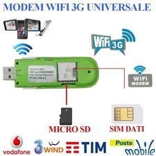 CHIAVETTA INTERNET KEY USB 3G MODEM 7.2 MBPS UNIVERSALE X TUTTI I GESTORI