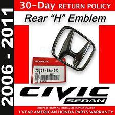 """Genuine OEM Honda Civic 4Dr Sedan Rear """"H"""" Emblem 2006 - 2011    (75701-SNA-003)"""