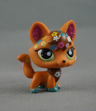 Littlest Pet Shop LPS266 Toys Brown Tan Shimmer Sparkle Fox Green Eyes