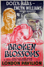 BROKEN BLOSSOMS 1936 Emlyn Williams Dolly Haas MARC STONE UK 20x30 POSTER