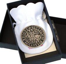 Replica Pewter Knights Templar Seal : Jewelery Larp Crusader knightfall.