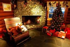 Christmas Tree Lights Fireplace Backdrops Studio Props Photography Screen