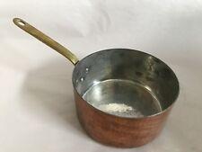 "Havard France Hand Hammered Copper 6.5"" Sauce Pan Brass Handle"