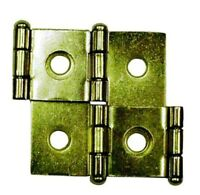 "20 HINGES DOUBLE ACTING HINGE FREE SWINGING, SP1544 BP3Q BRASS PLATED 3/4"" DOORS"