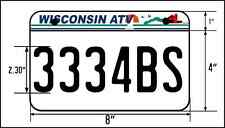 ATV license Plate, Wisconsin Style ATV License Plate