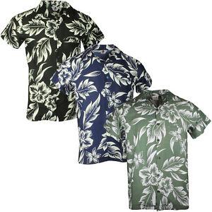 HAWAIIAN SHIRT PARTY FANCY DRESS S XL XXL BEACH FLORAL SHIRT STAG HOLIDAY LARGE