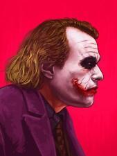 Joker Mike Mitchell Portrait Mondo Print Heath Ledger Poster Batman Dark Knight
