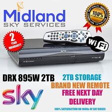 Sky+ HD Box Amstrad WIFI DRX895W 2TB PVR6 - 2016 VERSION 3D READY WIFI