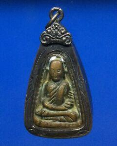thai buddha amulet old antique LP Ngern