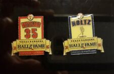 ⚾2005 TEXAS RANGERS HALL OF FAME INDUCTION PIN SET CASE MARK HOLTZ JOHN WETTLAND