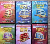6 SCDG SET CHARTBUSTER ESSENTIALS 450 KARAOKE SET E1-E6, 2700 SONGS CAVS
