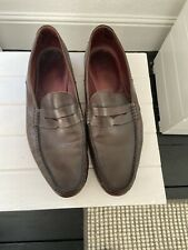 mens used leather loafers size 9