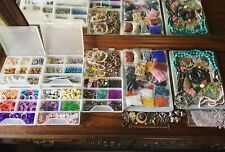 HUGE JEWELRY MAKING SUPPLIES LOT Gemstone Beads Strands,Charms,Tools, SO MUCH