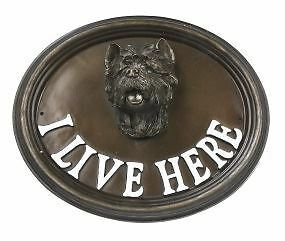 "Wall Or House Sign West Highland Terrier ""I Live Here"""