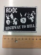 AC/DC Patch Aufnäher Highway To Hell schwarz Gestickt   Ungebraucht