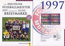 BRD Bund Erinnerungsblatt EB 4 1997 MiNr. 1958 4er-Block Fussballmeister