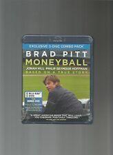 Moneyball, Brad Pitt (Exclusive 3- Disc Combo Pack) Blu-ray/ DVD/ Bonus[NEW] DVD