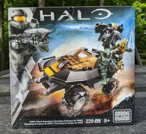 HALO UNSC ATTACK GAUSSHOG MEGA BLOKS SET 229 pieces - CNG66 Factory Sealed! NEW!