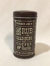Trader Joe's BBQ Rub and Seasoning with Coffee and Garlic, 3.5 oz (100g), 1 Can