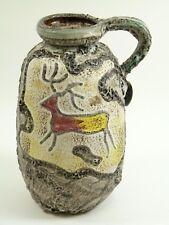 FAT LAVA Pottery - Rare SCHEURICH MONTIGNAC Vase - Stone Age Deer / Buffalo