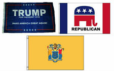 3x5 Trump #1 & Republican & State of New Jersey Wholesale Set Flag 3'x5'
