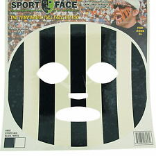 Black White Stripe Face Transfer Mask Fancy Dress Party Costume Temporary Tattoo