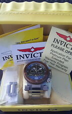 NEW! Invicta 17645 Coalition Forces Swiss Chronograph Silver Gunmetal