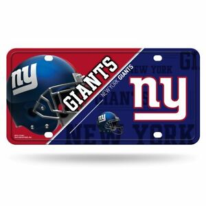 New York Giants 12x6 Auto Metal License Plate Tag CAR TRUCK