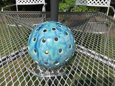 Blue Ceramic  Spherical Candle Light