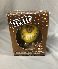 New ListingBoyds Bear Yellow M&M Peeker Christmas Ornament Resin Figurine In Box 2005