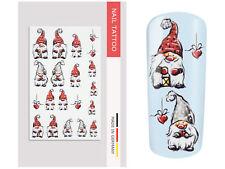 NailArt Nagel Wasser Tattoo Wrap Weihnachtswichtel Sticker Nail Aufkleber Design