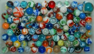 Lot of 180 Plus Vintage & Antique Glass Marbles & Shooters - Old Estate Find 4