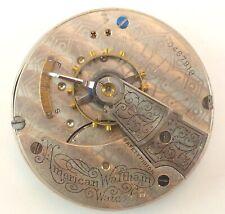 Waltham Grade 18 Pocket Watch Movement -  Parts / Repair - Broken Balance