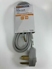 Work Choice 5ft DRYER CORD Appliance EV Charging Cable NEMA 10-30 10-30P 10-30R