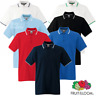 Fruit Of The Loom MEN'S TIPPED POLO SHIRT COLLAR CONTRAST SMART GOLF SPORT S-3XL