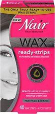 Nair Wax Ready-Strips for Face/Bikini, 40 Strips 022600019572A412