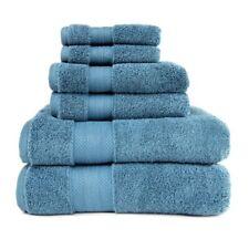 6pc Demin Blue 100% Turkish Long Staple Cotton 800GSM Bath, Hand, Face Towel Set
