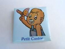 VINTAGE PROMO PINBACK BUTTON #109-017 - CARTOON - PETIT CASTOR