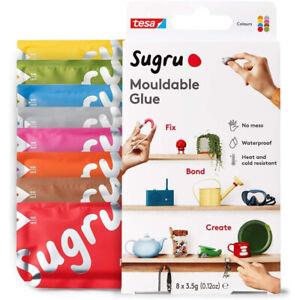 Sugru Moldable Glue Adhesive  Multicoloured  8 Pack New Uk SCLR8
