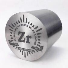 1Kg Fine Turning Zirconium Metal Cylinder 59×59mm 99.5% Engraved Periodic Table
