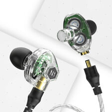 VJJB Hifi Deep Bass Noise Isolation Wired In ear headphones Clear Color