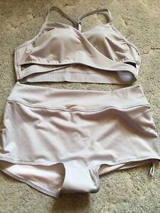 Victorias Secret Pink Gym To Swim Bodywrap Top & Shortie NWT Size Large