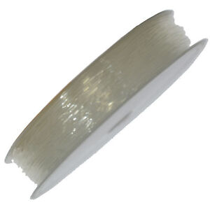 15 Metres Clear Elastic Thread 0.6mm Stretchy Cord Jewellery Making
