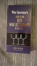 Wine Spectator's Guide to the Best Wine Restaurants in the World by Lou Harry...